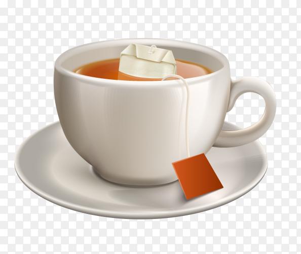Mug With tea on transparent background PNG