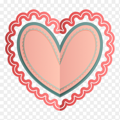 Multiple colors patterns shaped heart clipart PNG