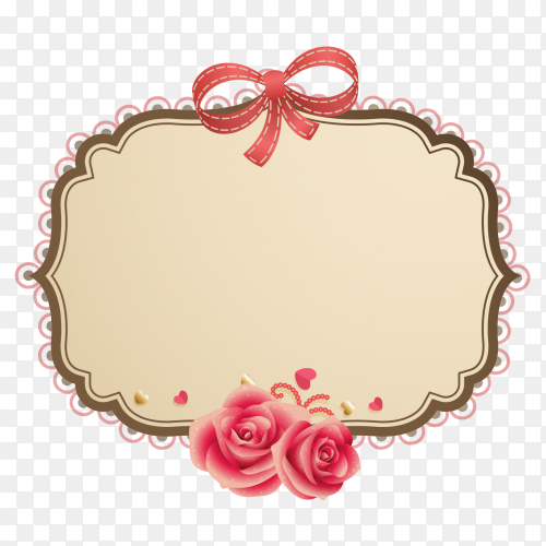 Multiple patterns with ribbon on transparent PNG