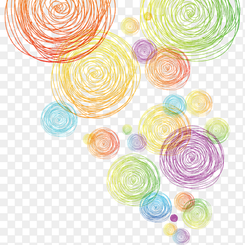 Multiple threads shaped circles clipart PNG