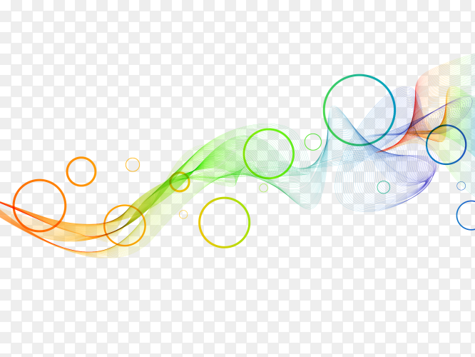 Multiple waving circles and lines premium vector PNG