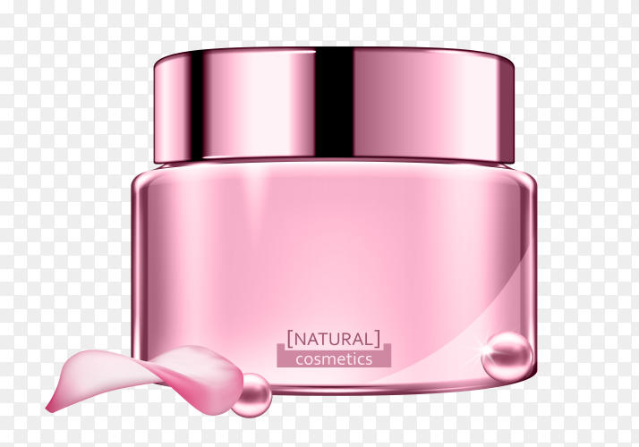 Natural Cosmetic cream product ad Clipart PNG