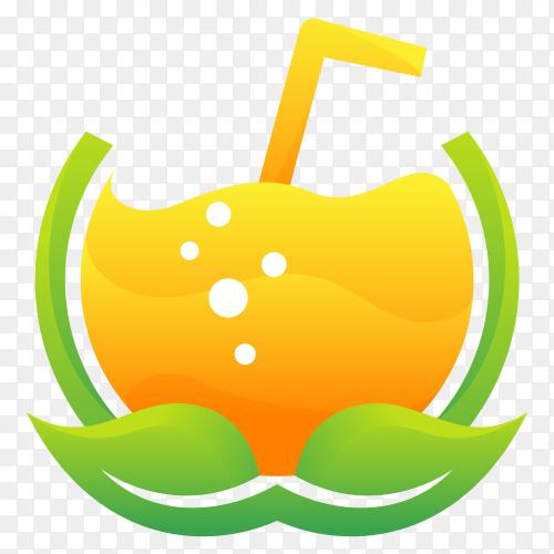 Natural Drink logo Clipart PNG