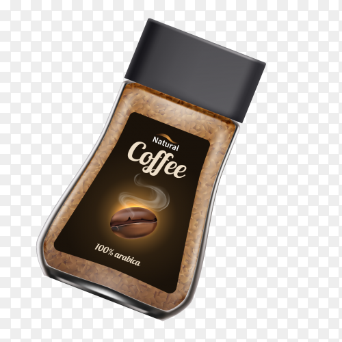 Natural coffee design Clipart PNG