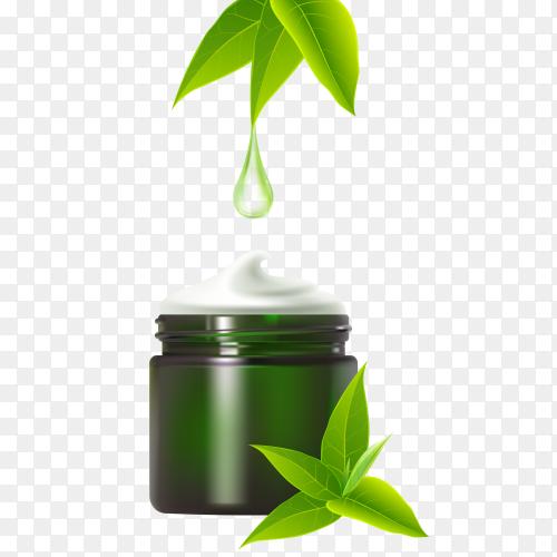 Natural cream ad template Premium vector PNG