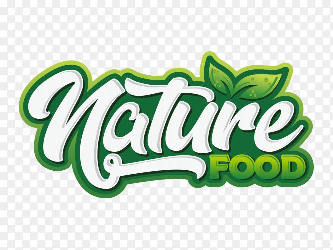Nature food Logo on transparent background PNG
