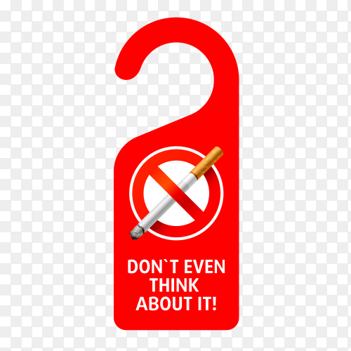 No smoking sign on transparent background PNG