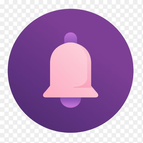 Notification bell Purple vector PNG