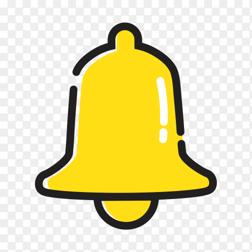 Notification bell icon incoming inbox message alarm Clipart PNG