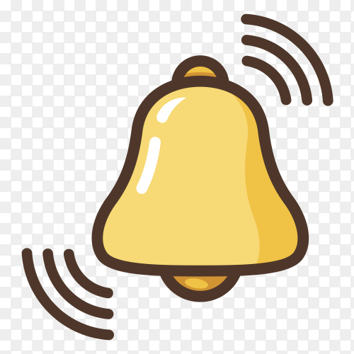 Notification bell icon new message bell Premium vector PNG