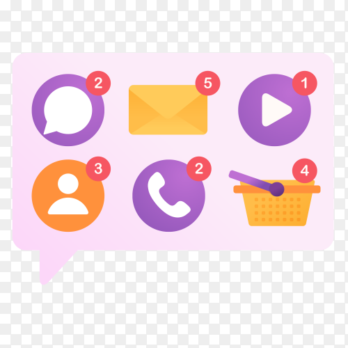 Notification some application vector PNG