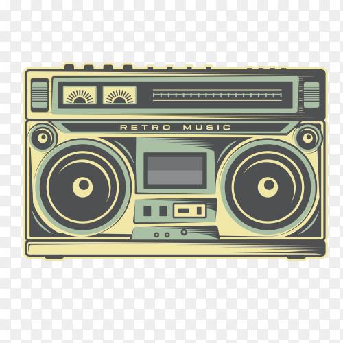 Old radio on transparent background PNG