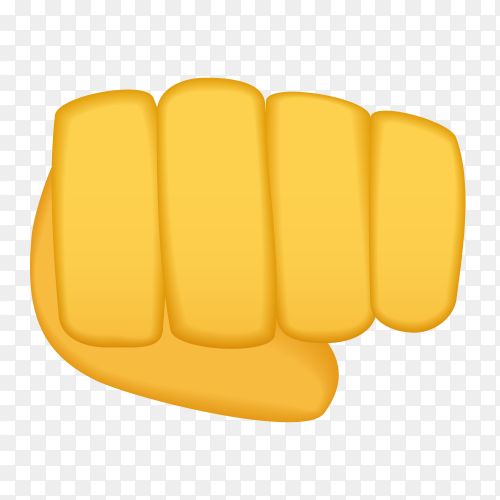 Oncoming fist gestures emoji Clipart PNG