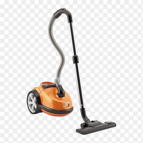 Orange Vacuum cleaner on transparent background PNG