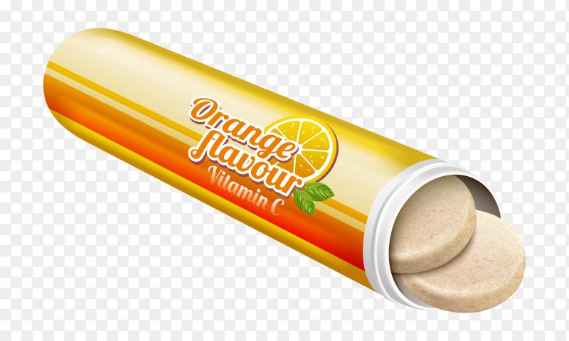 Orange Vitamin C on transparent background PNG