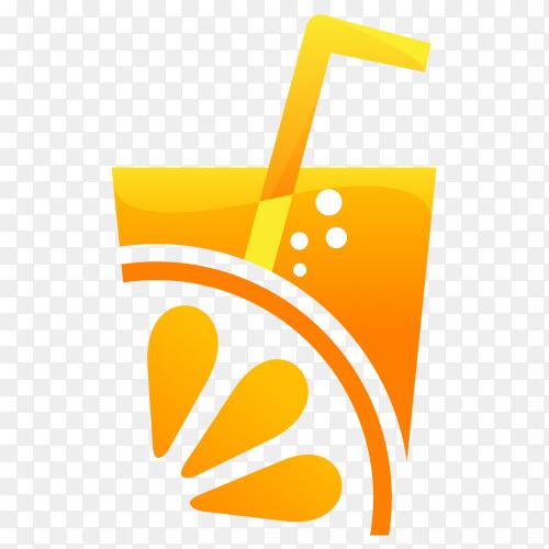 Orange juice logo on transparent PNG