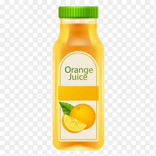 Orange juice on transparent PNG