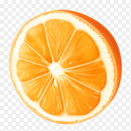 Orange slice isolated on transparent background PNG