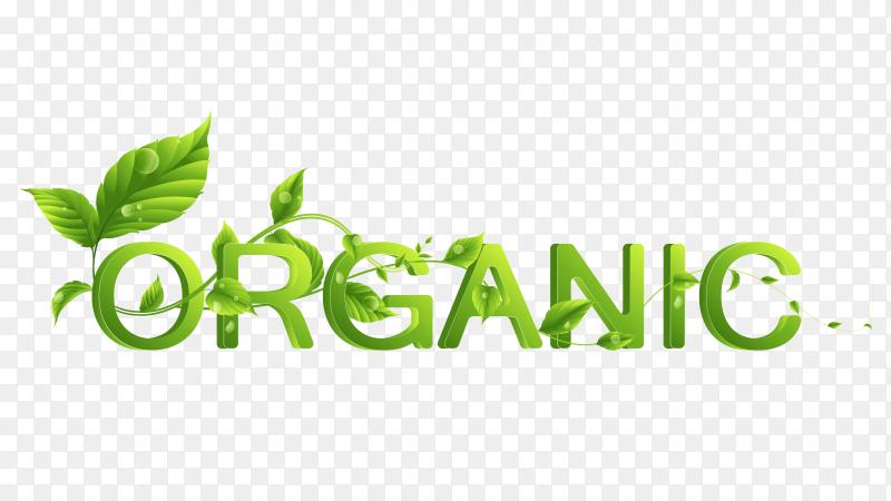 Organic eco word logo Premium vector PNG