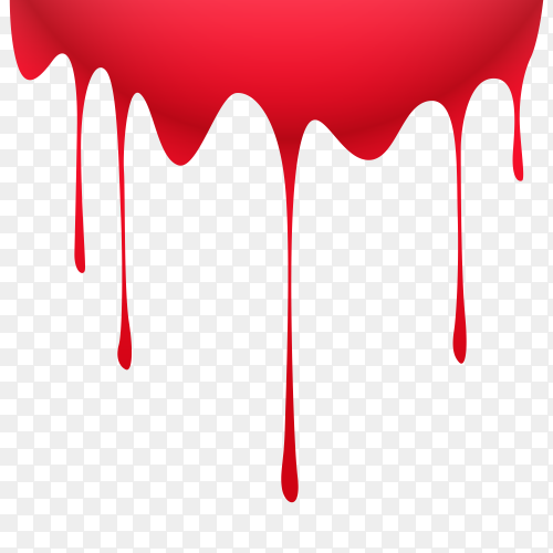 Paint Red color dripping Clipart PNG