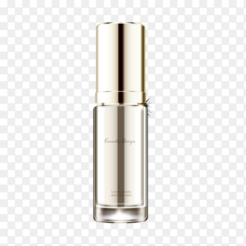 Perfume glass bottle on transparent PNG