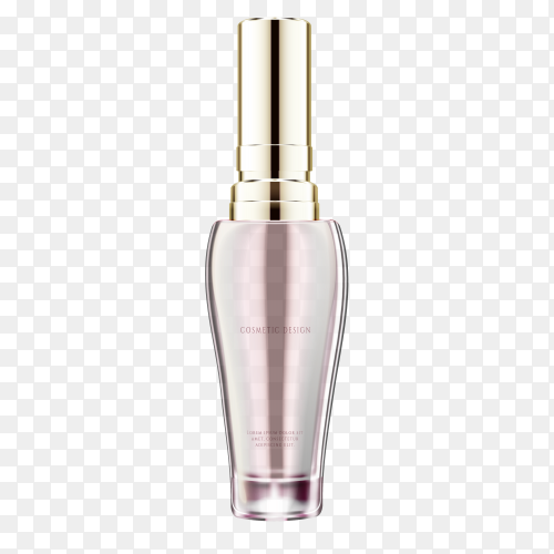 Perfume glass bottle on transparent background PNG