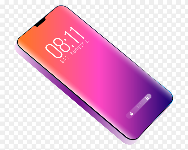 Phone purple theme on transparent PNG