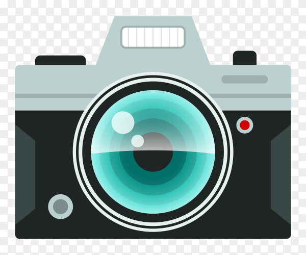 Photo camera on transparent background PNG