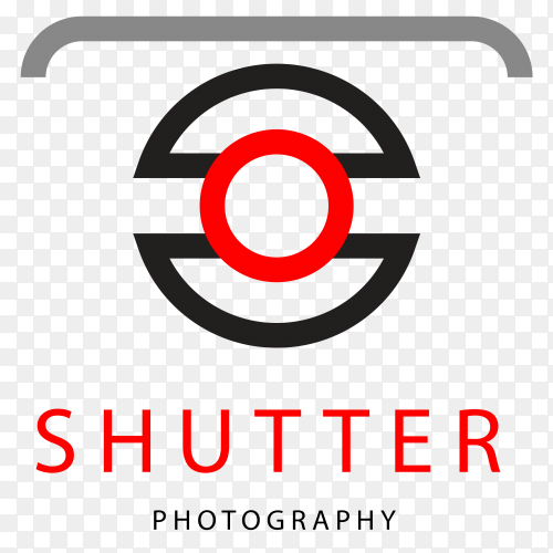 Photography logo design on transparent background PNG