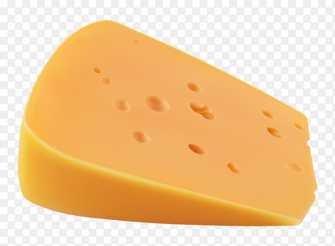 Piece of cheese isolated on transparent background PNG