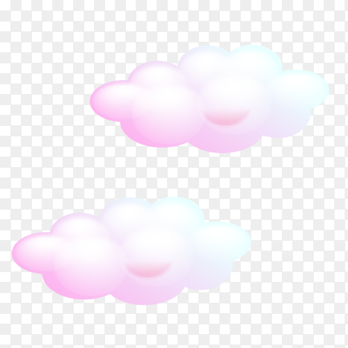 Pink Clouds in the sky Clipart PNG
