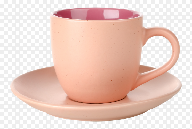 Pink Tea cup on transparent background PNG