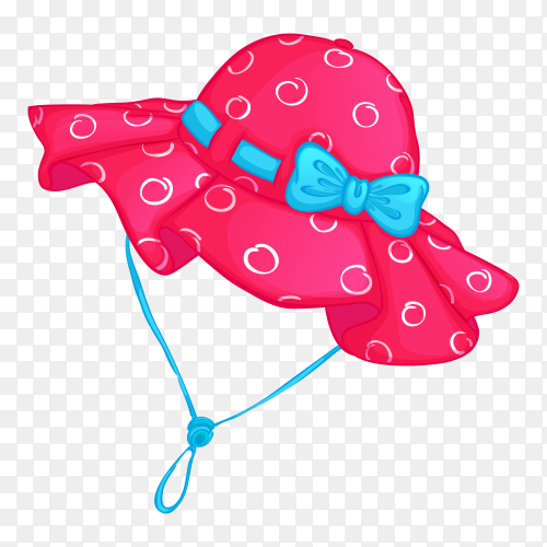 Pink hat on transparent background PNG