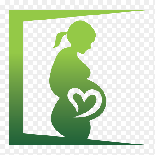 Pregnancy on transparent background PNG