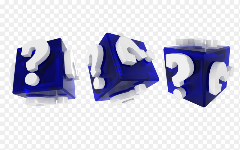 Question mark box on transparent background PNG