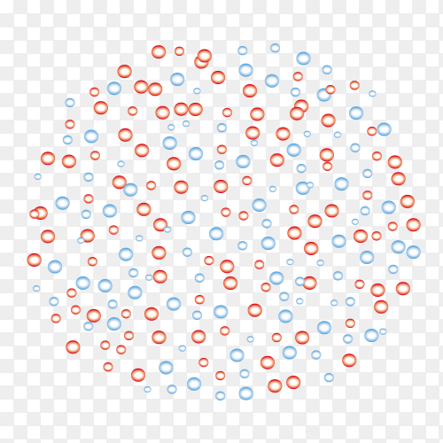 Random dots pattern on transparent background PNG