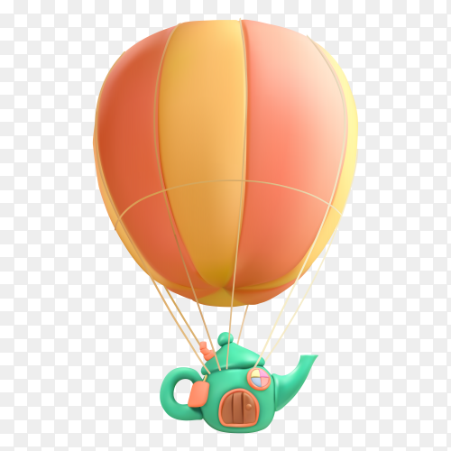Realistic air balloon vector PNG