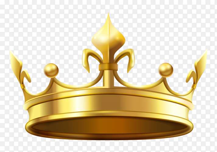 Realistic Gold Crown Vector Png Similar Png