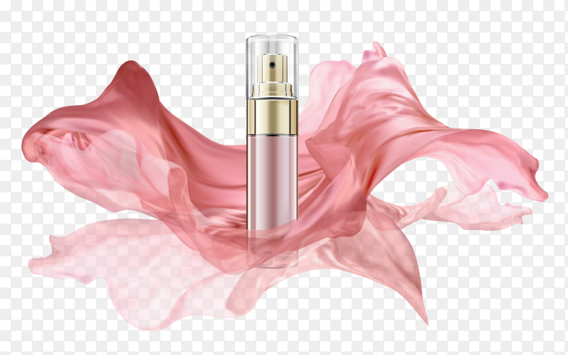 Realistic perfume bottle ad template Clipart PNG