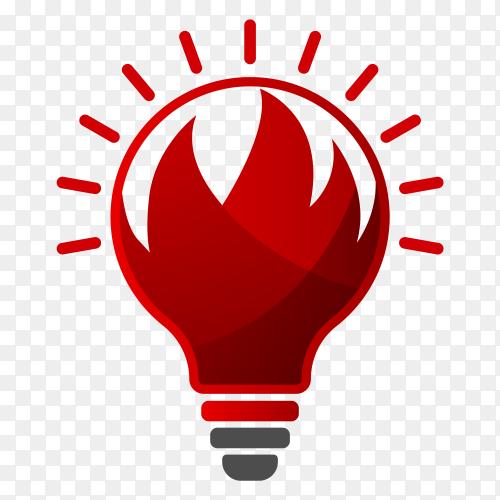 Red Lightbulb illustration on transparent background PNG