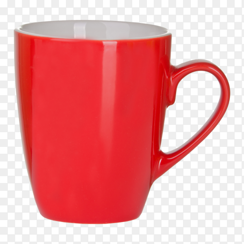 Red Mug with handle clipart PNG