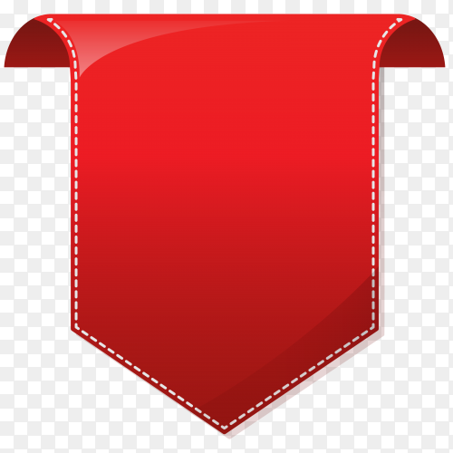Red arrow on transparent PNG