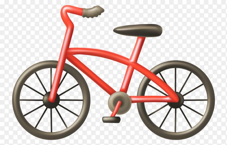 Red bicycle Premium Vector PNG