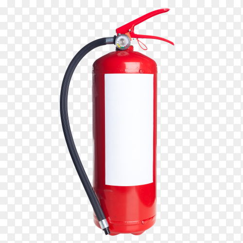 Red fire extinguisher on transparent background PNG