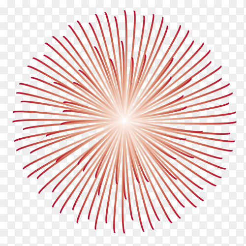 Red fireworks Premium vector PNG