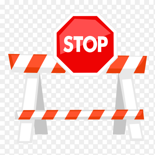 Red stop sign Premium vector PNG