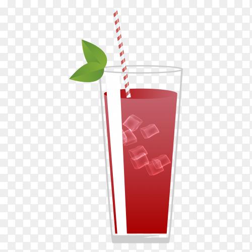 Red summer juice on transparent background PNG