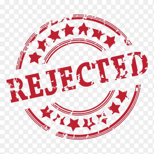 Rejected Stamp on transparent background PNG
