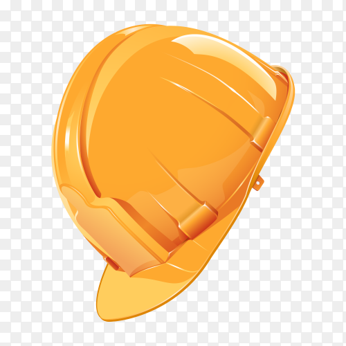 Safety Helmet Construction Logo on transparent background PNG