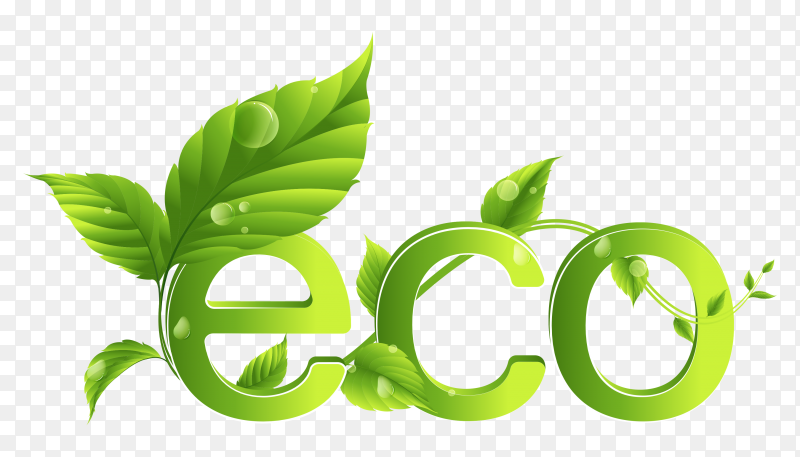 Sbstract eco logo on transparent background PNG